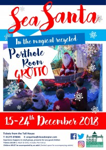 Sea Santa Grotto Poster