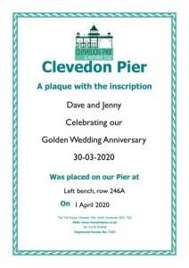 Example plaque certificate